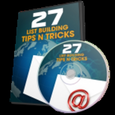 Product picture 27 List Building Tips and Tricks