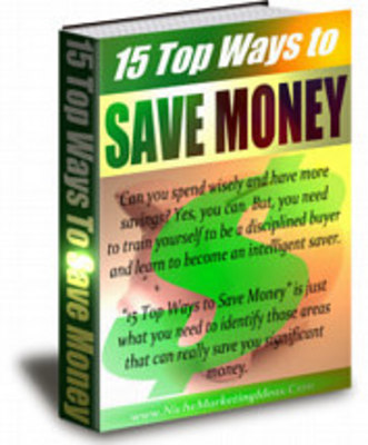 Product picture 15 Top Ways to Save Money
